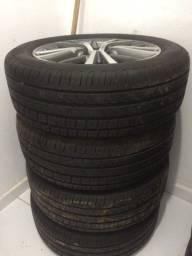 Jogo de rodas mais pneus novos corolla