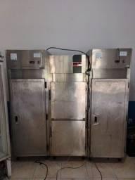 Geladeira/freezer de inox
