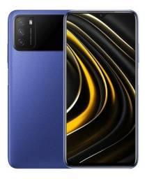 Smartphone Xiaomí Poco M3 128GB 4GB RAM Tela FHD+ 6,53`` Câmera Tripla 48MP - Azul