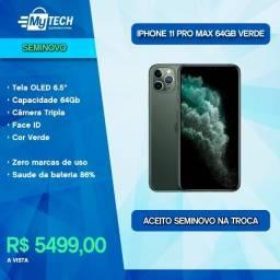 iPhone 11 Pro Max 64Gb Green (Seminovo / Bateria 86%)