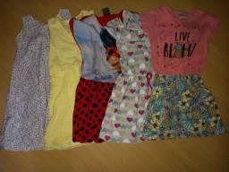 Lote roupa tam 4 menina