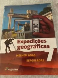 Livro em ótima conservação - expedições geográficas 7 ano