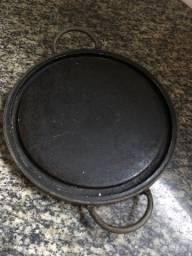 Pedra sabao para fondue e outros com borda em cobre