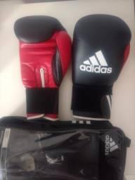 4550dd85c Luvas de Boxe Adidas + Bandagem Adidas + Protetor Bucal