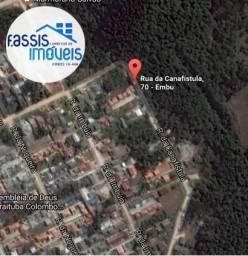Terreno projeto aprovado 5 unidades parque Embu acima nivel da rua