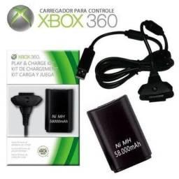 Caregador de controle de x box 360 play charge kit