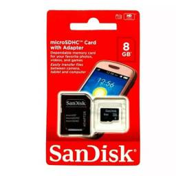 Cartão de Memória SanDisk 8gb Para Notebook PC Celular Samsung Moto G LG Motorola