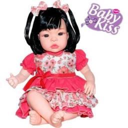 9ba46d0f37 Boneca Baby Kiss Realista estilo Reborn Sid Nyl Chora E Balbucia (Nova)