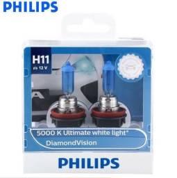 Usado, Lâmpadas Philips Diamond Vision H1, H4, H7, H8, H11, HB3, HB4 5000k comprar usado  Rio de Janeiro