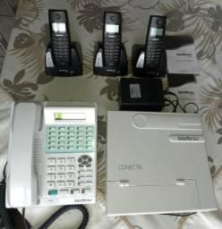 Usado, Pabx Conecta Intelbras 2 L 8 R com terminal inteligente 3 ap. SF. Pouquíssimo uso comprar usado  Campinas