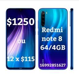 Xiaomi redmi note 8 azul , 64/4gb novo
