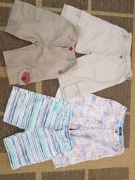 Bermudas, shorts, criança, meninos, tecido, infantil, roupas, lote