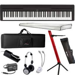 Piano Digital Yamaha P45 Bk Preto 88 Teclas + Kit - Produto Novo - Loja Física
