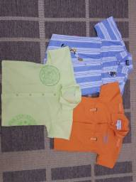 Camisa, criança, moda, colorida, manga curta, lote, infantil, roupas