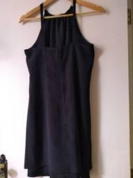 Vestido Crepe Forrado Tamanho 44 Marca C&A