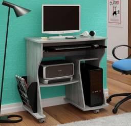 Mesa Escrivaninha Escritório Preta e Cinza Nova Artely
