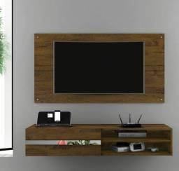 Painel Combo Sorento Glass ? Para TV até 50? ? Borsari ? Rústico<br><br>