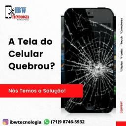 Troque a tela do seu celular quebrado
