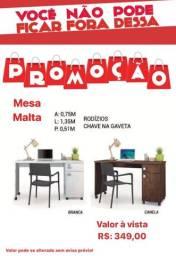 Mesa Malta com CHAVE NA GAVETA NA PROMOÇÃO