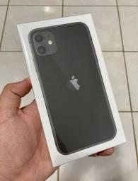 iPhone 11 64GB (preto) - novo, lacrado, garantia de 01 ano da Apple