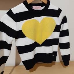 Suéter blusão tricô Pituchinhus tamanho 8