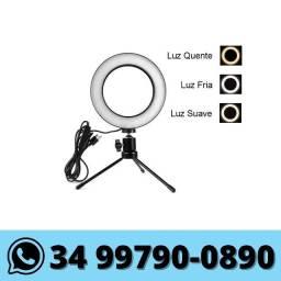 Ring Light 6 polegadas c/ Tripe de Mesa