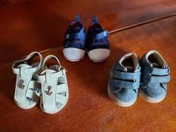 Sapatinhos da Pimpolho bebê menino 3 pares