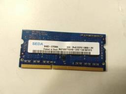 MEMÓRIA RAM 2GB DDR3 SODIMM