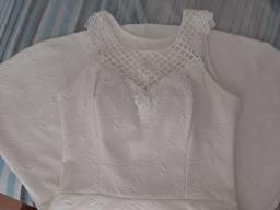 Vestido branco meia coxa número 42  - G