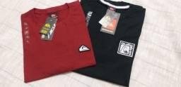 Camiseta Quiksilver Masculina Tamanho P Original 100%algodão