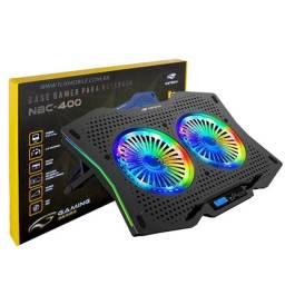 """Base Para Notebook C3Tech 17,3"""" / Refrigerada Gamer / RGB / Preta / NBC-400BK - Novo"""
