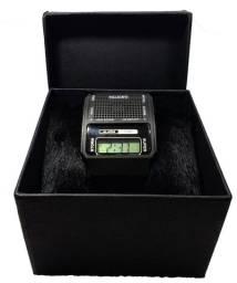 Relógio Fala Hora Digital Ideal Para Idosos  Ou Deficientes Visuais