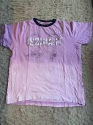 Camiseta Vr Menswear Estampada Rosa Degradê Tamanho M 100% Algodão Impecável!