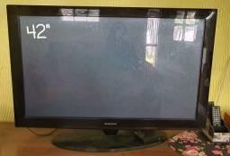 """Tv plasma samsung 42"""" c controle remoto sem avarias em perfeito funcionamento"""