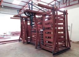 Tronco de contenção, Balança de pesagem eletrônica, pescoçeira para bovinos
