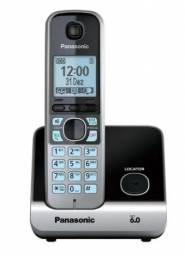 Telefone sem fio Panasonic KX-TG6713LB (base + 2 ramais) - NOVO!