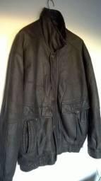 Jaqueta aviador couro natural legítimo