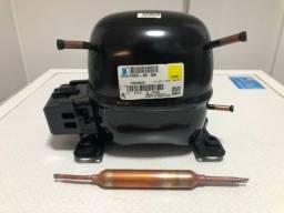 Compressor refrigeração geladeira 1/5hp R134-a 110v
