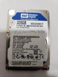 HD 2,5 Western Digital Blue, 320GB, modelo WD3200BEVT, SATA, 3Gb/s, 5400 rpm.