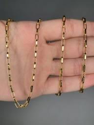 Cordão de Moeda Antiga Idêntico ao Ouro 18K