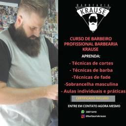 Curso de barbeiro profissional BARBEARIA KRAUSE