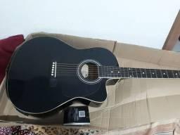 violão  armonic  elétrico, com afinador digital e sauda para caixa