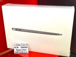 """Apple Macbook Air 13"""" 1.1Ghz 8GB 256SSD Space Gray MWTJ2LL/A 2020 - Novo com Garantia"""
