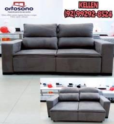 sofá retrátil e reclinável - entregamos hoje 54