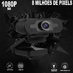 Webcam 1080p Full Hd  Camera Para Computador Com Microfone Embutido