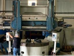 Torno Vertical CNC Fresador com duplo cabeçote