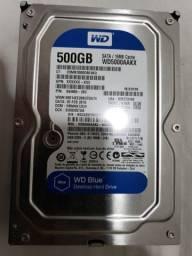 HD 3,5 Western Digital Blue, 500GB de armazenamento, SATA, 16MB cache, 7200 rpm