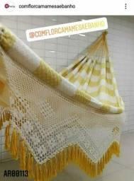 Rede de dormir GIGANTE 100% algodão - ENTREGA GRATIS