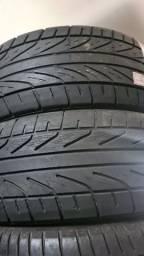 Par de pneus aro 16 dunlop meia vida medida 215 55 16 c4 pallas