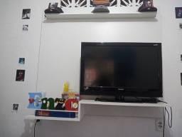 Tv 32 pol e aparelho TV box.